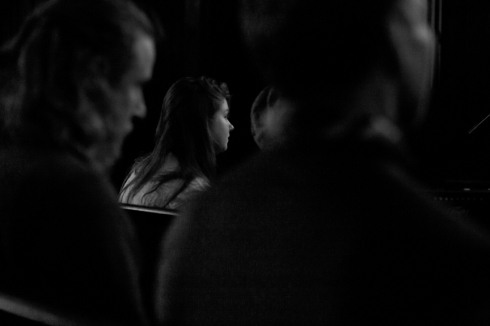 Young Woman in Audience, Reed College Chapel, Portland, OR, 2014.